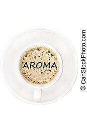 Aroma on coffee