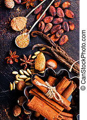 aroma spice on a table, stock photo
