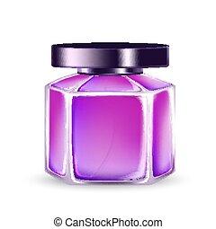 Aroma Water Perfume Glass Bottle Sprayer Vector