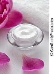 aromate, cosmétique, anti, ride, crème, vitamine, spa, lotion, organique, crème hydratante