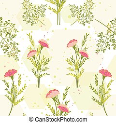aromate, fleur, fond, printemps, coloré
