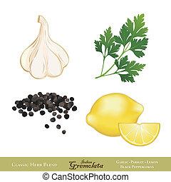 aromate, sauce, gremolata, italien