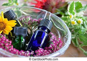 aromathérapie, huiles essentielles