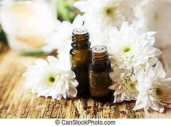 aromathérapie, naturel, huiles