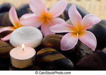 aromatherapy, és, ásványvízforrás, pihenés