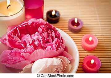 aromatherapy, 花, 蝋燭, 風景
