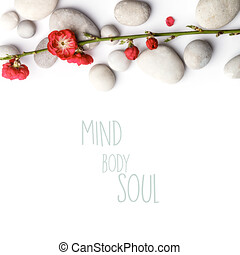 Aromatherapy, beauty, Spa background with sample text