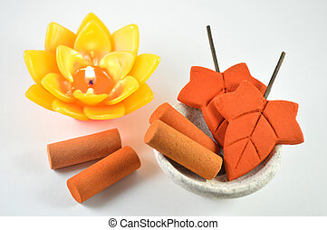 Aromatherapy candle and incense