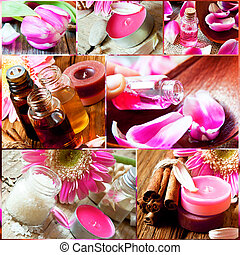 Aromatherapy Collage. Spa Essences Settlement