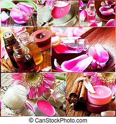 Aromatherapy Collage.Spa Essences Settlement - Aromatherapy...