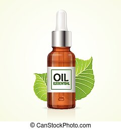 Aromatherapy Concept. Vector - Aromatherapy Concept with ...