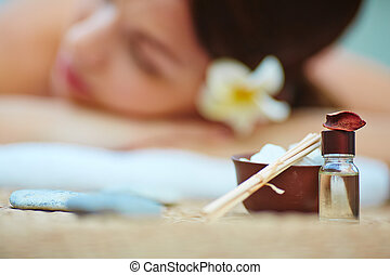 Aromatherapy  - Cosmetic objects for spa procedures