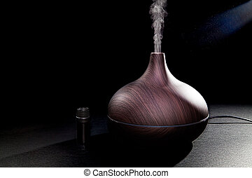 Aromatherapy. Essential oil aroma diffuser humidifier...