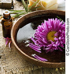 aromatherapy., essentie, oil., spa behandeling