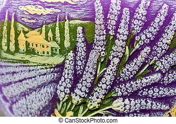 aromatherapy, flowers., concept, lavendel, kaarsje