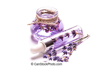 Aromatherapy oil and lavender, spa,  healthy concept