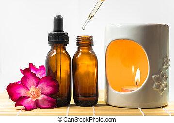 aromatherapy olie, en, brander