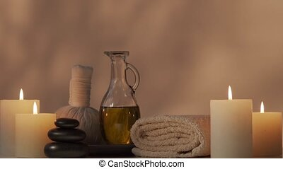 Aromatherapy, oriental massage and spa treatment concept....