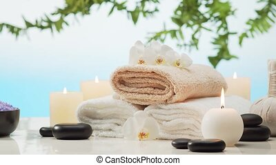 Aromatherapy, oriental massage and spa treatment. Relaxation...