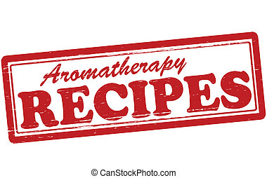Aromatherapy recipes - Stamp with text aromatherapy recipes...