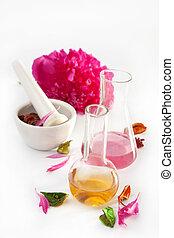 aromatherapy set isolated