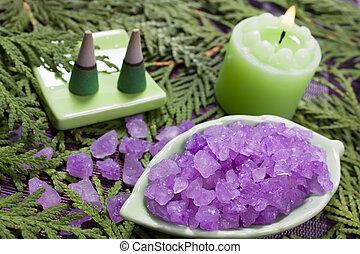 aromatherapy, set, spa