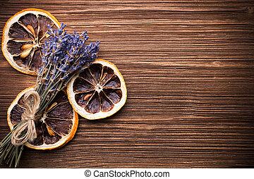 Aromatherapy. - Spa accessories, lavender.