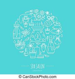 Poster., aroma, kerzen, spa, schablone, aromatherapy, öle ...