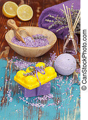 Aromatherapy with lemon and herbs