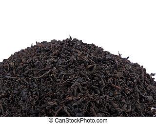 Aromatic black tea on white