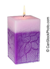 Aromatic candle - Aromatic rectangular candle on a white ...