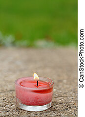 aromatic candle burning