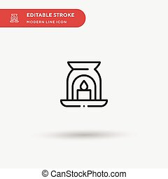 Aromatic Candle Simple vector icon. Illustration symbol design template for web mobile UI element. Perfect color modern pictogram on editable stroke. Aromatic Candle icons for your business project