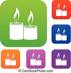 Aromatic candles set collection