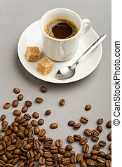 Aromatic coffee - Photo of cup of black coffee with two...