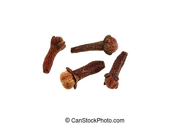 aromatic flower bud : Cloves - A group of dried aromatic...