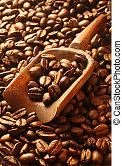 Aromatic fresh roasted coffee beans