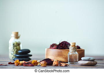 Aromatic oil - Objects for aromatherapy with focus on vial