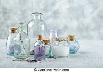 Aromatic oils and salt