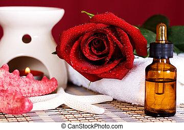 Aromatic spa oil