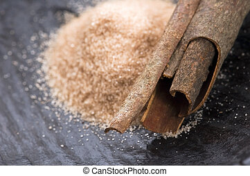 aromatic spices with brown sugar - cinnamon