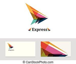 aroow, kort, illustration, ikon, vektor, företag, logo