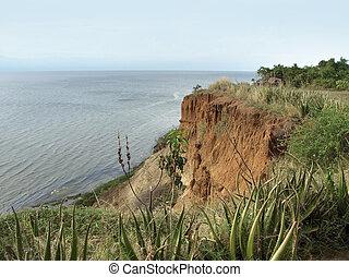 around Lake Albert in Uganda - scenery around Lake Albert in...