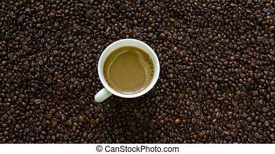 around., rigolote, café, concept, tasse, arrière-plan., ...