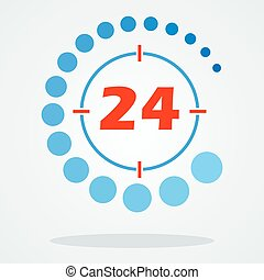 around the clock 24