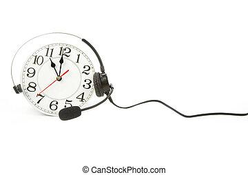 around the clock support - clock and telephone, around the...