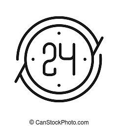 around the clock vector illustration design
