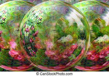 Around the Garden - Beauty lies in the garden looking glass....