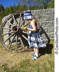 Around the old wagon wheel