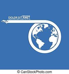 Around the world by plane